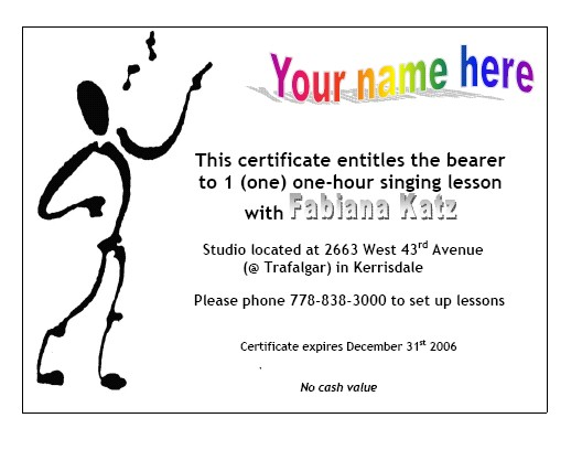 Gift certificates sing yes you can gift certificates yelopaper Choice Image